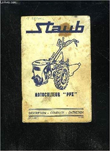 motoculteur staub entretien